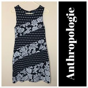 Anthropologie Maeve Knit Brocade Mini Dress